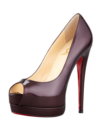 Palais Royal Platform Pump, Rouge Noir