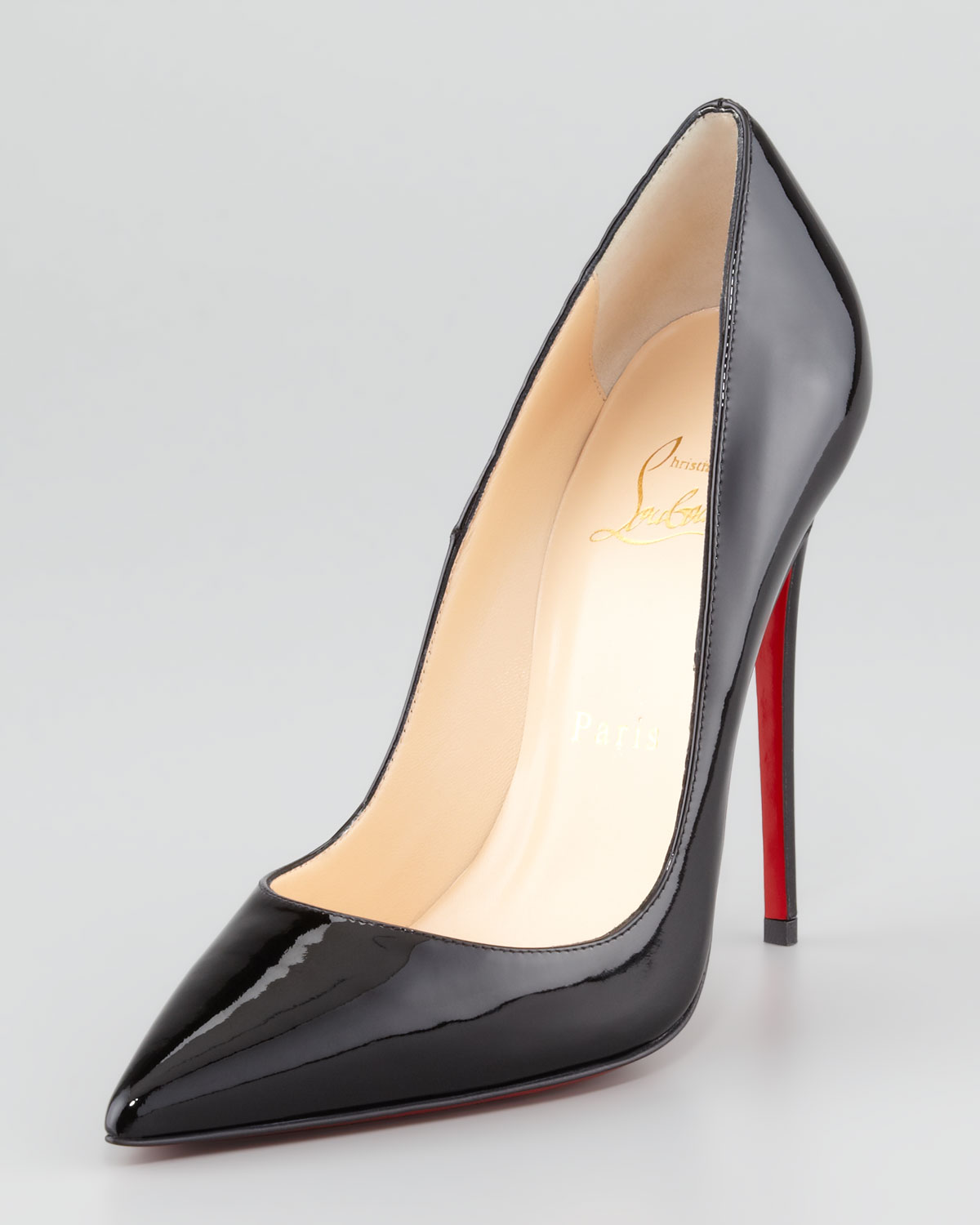 So Kate Patent Leather Point-Toe Pump, Black - Christian Louboutin
