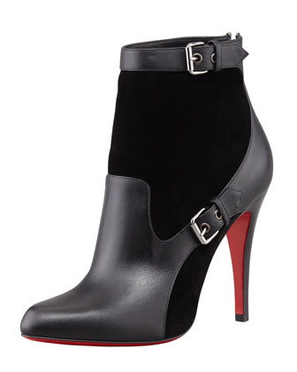 Canassone Buckled Suede-Leather Bootie