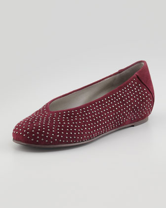 Patch 2 Suede Studded Flats, Raisonette