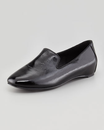 Court2 Patent Smoking Slipper, Black