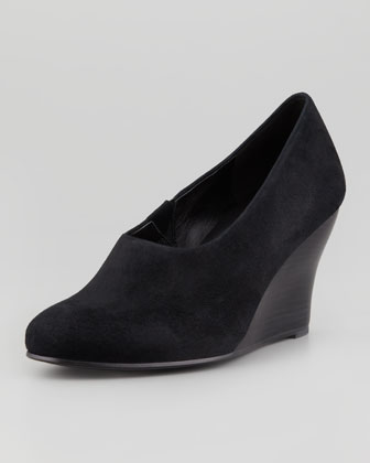 Effi Smart Suede Wedge, Black