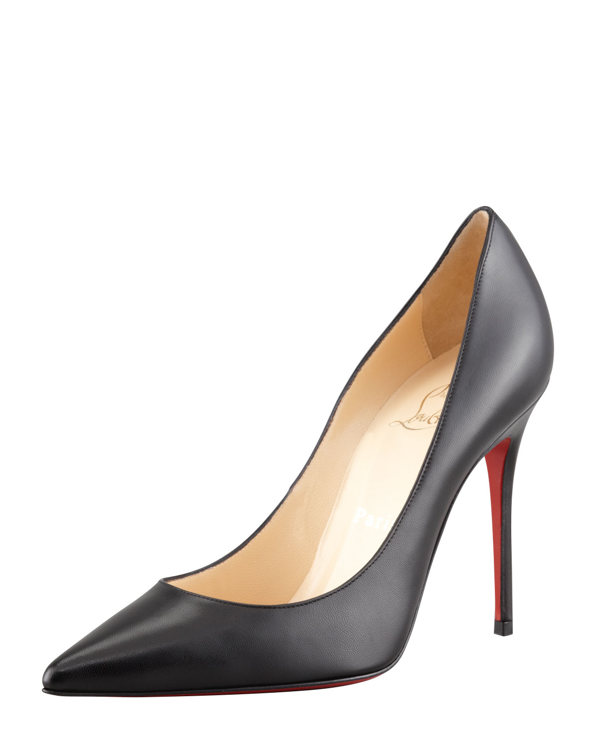 Decollette Pointed-Toe Red Sole Pump, Black - Christian Louboutin