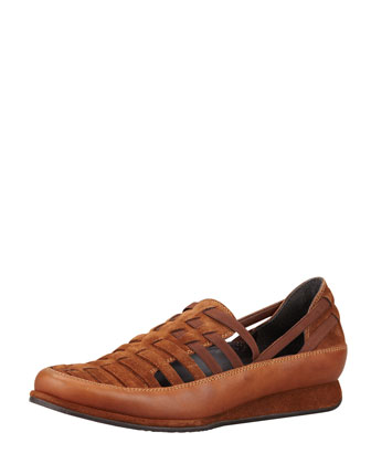 Move In Strappy Elastic Sneaker, Tobacco/Twig