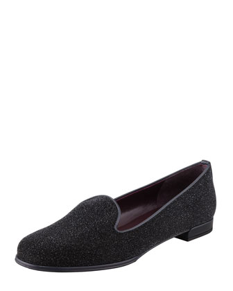 Nolys Sparkly Stardust Smoking Slipper, Ebony