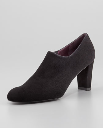 Unique Suede Shoe Bootie