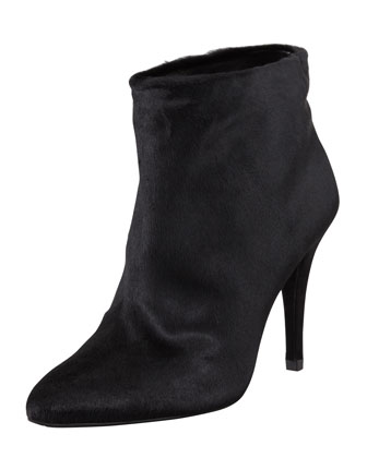 This Is Great Calf Hair Bootie, Black