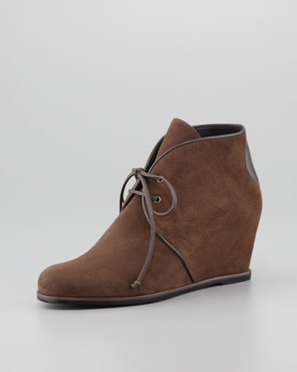 Kalahari Suede Hidden-Wedge Lace-Up Boot