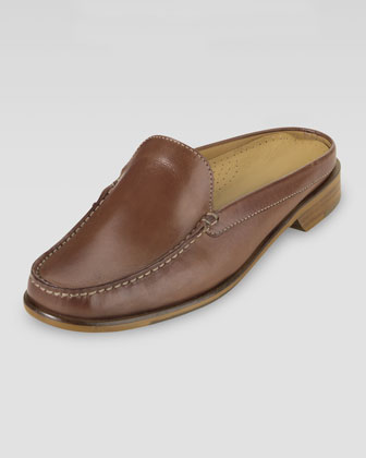 Ryann Leather Mule, Saddle Tan