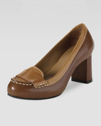 Air Marion Moccasin Pump, Dark Amber