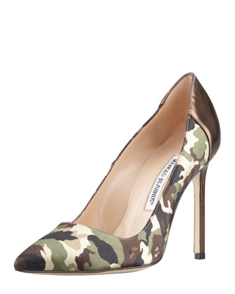BB Camo 105mm Specchio-Heel Pump