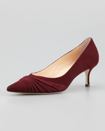 Golda Ruched Suede Pump, Boro