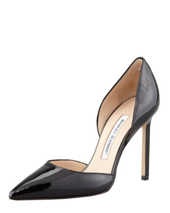 Tayler Patent Pointed d'Orsay Pump, Black
