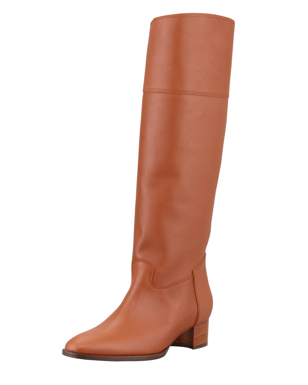 Equestra Knee High Boot, Luggage   Manolo Blahnik   Luggage (38.5B/8.5B)