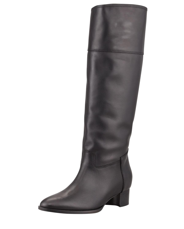 Equestra Knee High Boot, Black   Manolo Blahnik   Black (40.0B/10.0B)