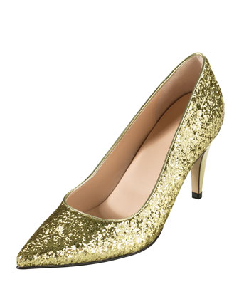 Air Juliana Glitter Pump, Gold