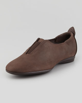 Ally Nubuck Leather Slip-On, Brown