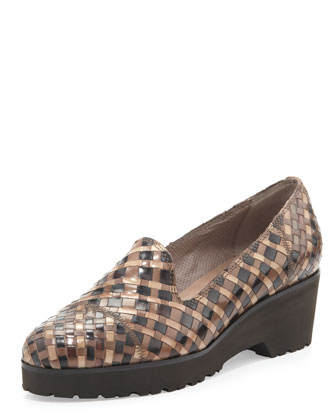 Robin Chunky Woven Slip-On, Dark Taupe