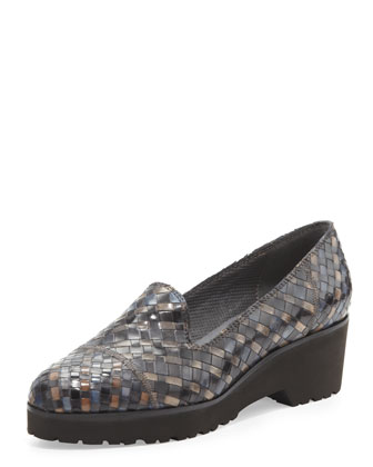 Robin Chunky Woven Slip-On, Black