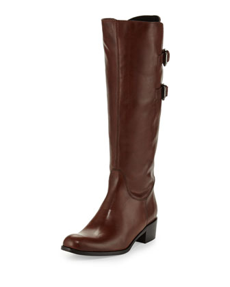 Bongo Leather Knee Boot, Tiziano