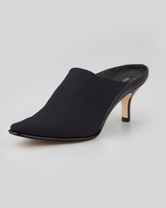 Luxe Stretch Fabric Mule, Black