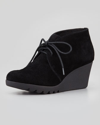 Maka Suede Wedge Bootie, Black