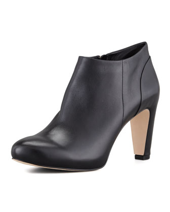 Berdina Leather Ankle Bootie, Black