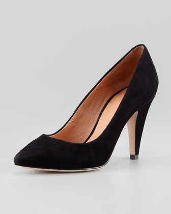 Gainor Suede Pump, Black
