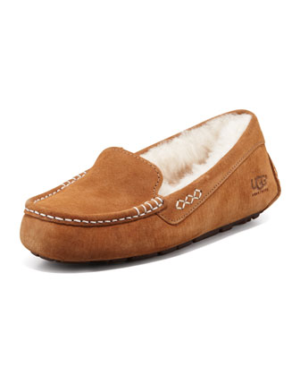 Ainsley Moccasin Slipper, Chestnut