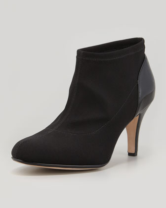 Taft Stretch Fabric Bootie, Black