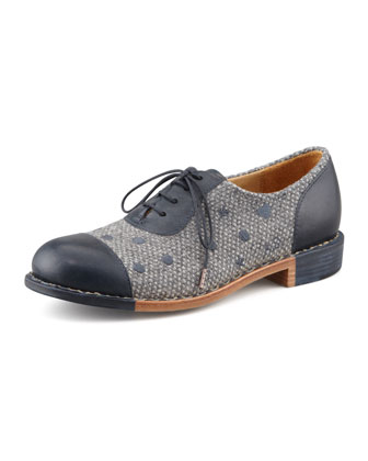 Mr. Dottie Embroidered Oxford, Navy