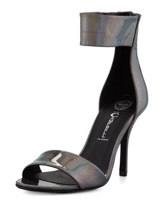 Inaba Holographic Ankle-Band Sandal