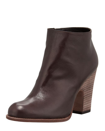 Demigran Leather Zip Bootie, Espresso