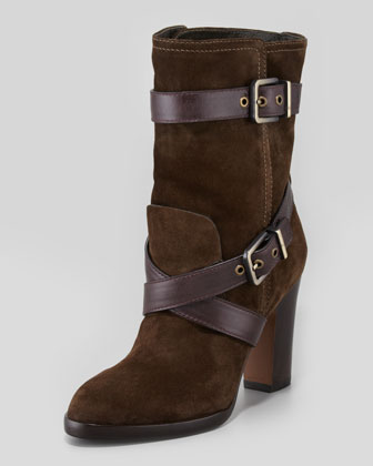Roslin Buckle-Wrap Suede Boot