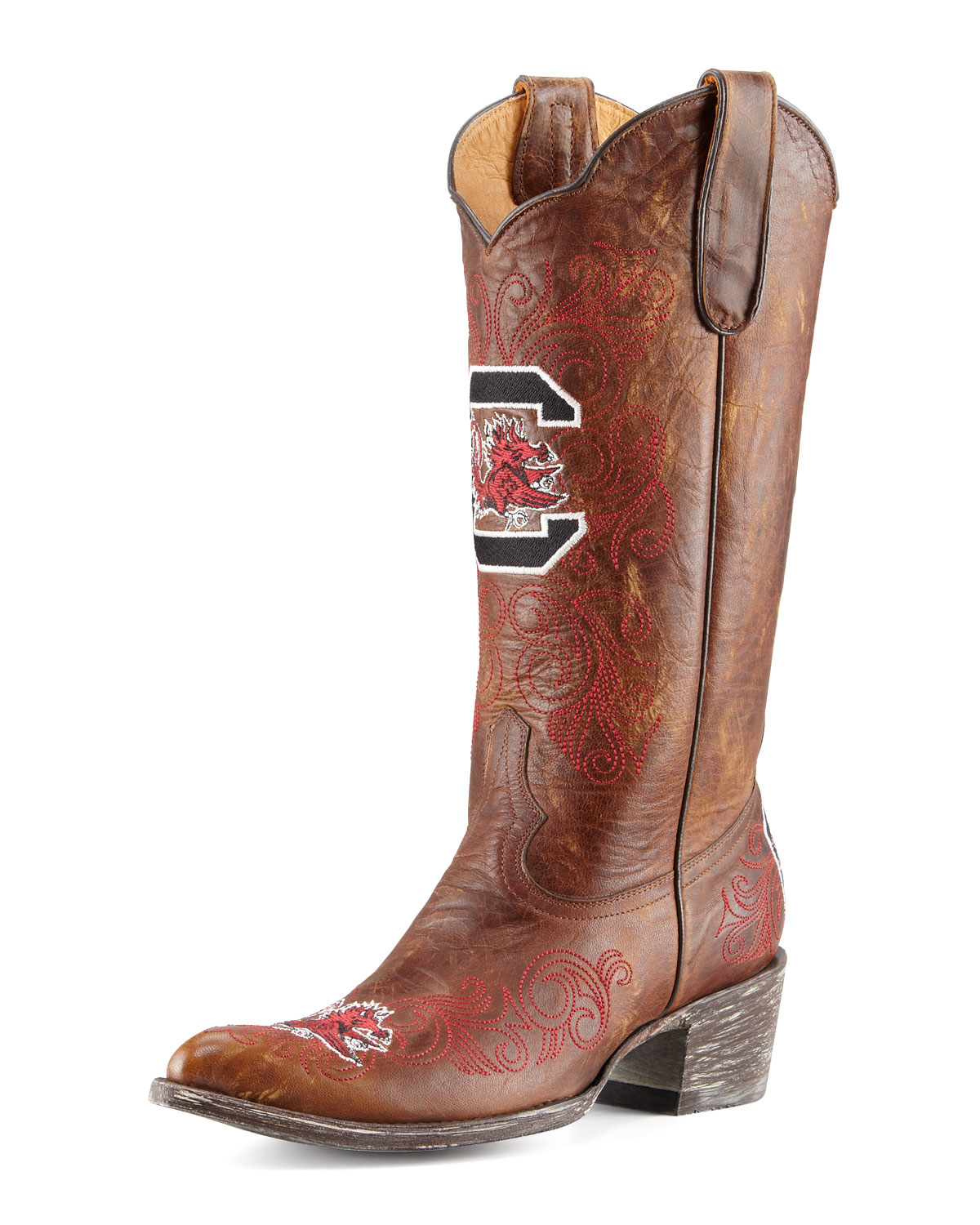 University of South Carolina Tall Gameday Boots, Brass   Gameday Boot Company