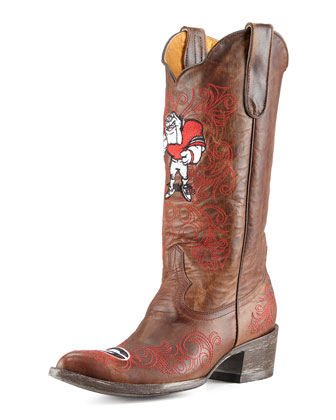 University of Georgia Tall Gameday Boots, Brass