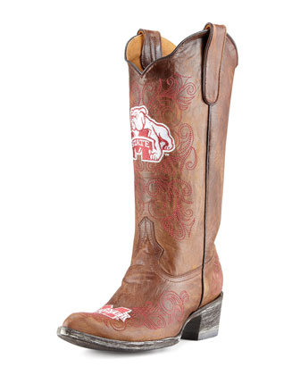 Mississippi State Tall Gameday Boots, Brass