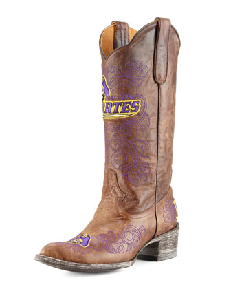 East Carolina University Tall Gameday Boots, Brass