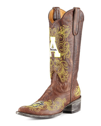 Appalachian State Tall Gameday Boots, Brass