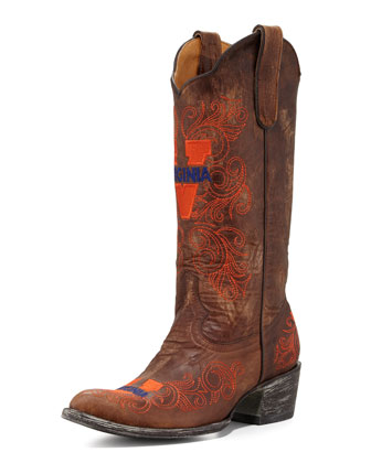 University of Virginia Tall Gameday Boots, Brass