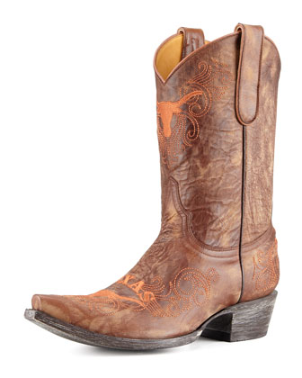 University of Texas Short Gameday Boots, Brass