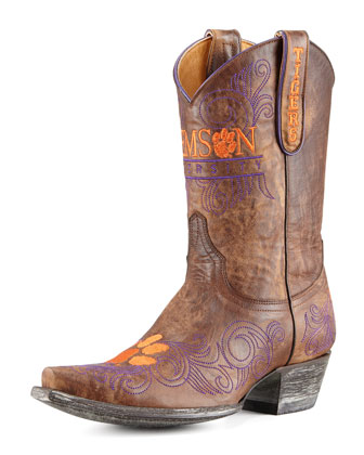 Clemson Short Gameday Boots, Brass