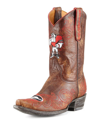 University of Georgia Short Gameday Boots, Brass