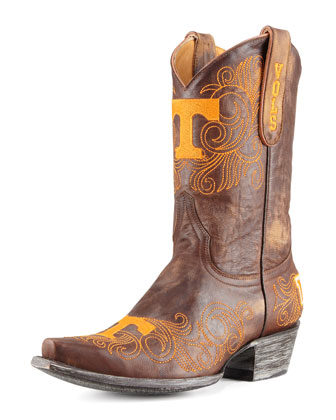 University of Tennessee Short Gameday Boots, Brass