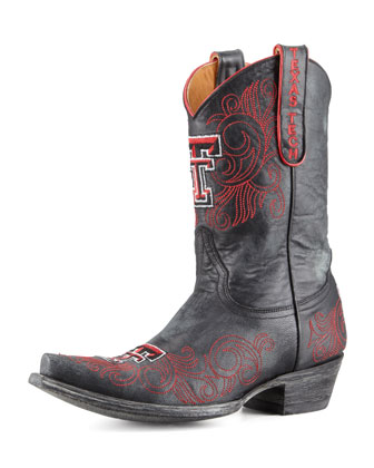 Texas Tech Short Gameday Boots, Black