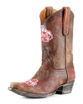 Mississippi State Short Gameday Boots, Brass