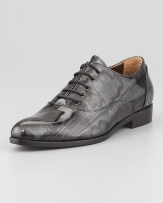 Moir?? Patent Oxford, Black
