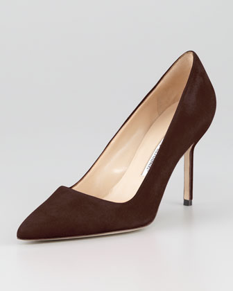 BB Suede 90mm Pump, Brown