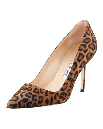 BB Suede 90mm Pump, Leopard (Made to Order)
