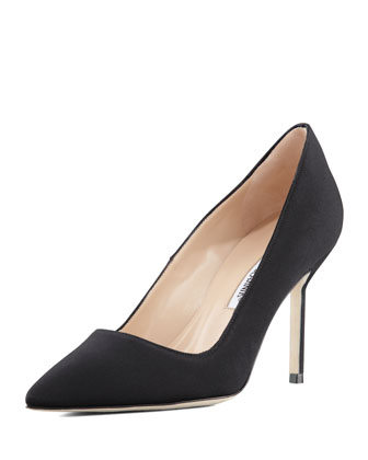BB Crepe 90mm Pump, Black (Made to Order)